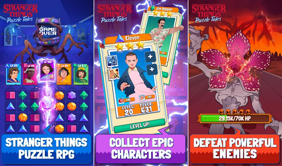 Stranger things Puzzle tales mod apk